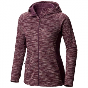 Columbia Women ' S Optic Got It Hooded Fleece Jacket - Dusty Purple