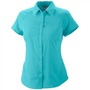 Columbia Women ' S Silver Ridge Short Sleeve Shirt - 564foxglove