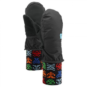 Burton Youth Minishred Mittens - True Black