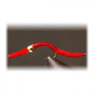 Flyboy Angler Red Power Worm ( 1 Dozen )