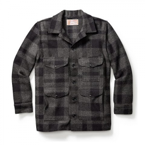 Filson Mackinaw Cruiser Jacket - Grey / Black