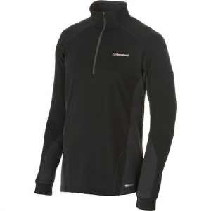 Berghaus Men ' S Thermal Long Sleeve Zip Neck - Black