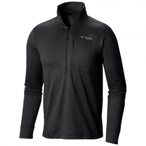 Columbia Men ' S Diamond Peak Half Zip Shirt - Black