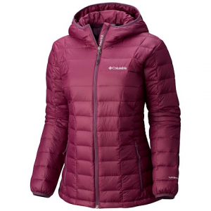 Columbia Women ' S Voodoo Falls 590 Turbodown Hooded Jacket - Purple Dahlia
