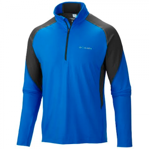 Columbia Mens Freeze Degree Ii Half Zip Long Sleeve Shirt - Super Blue