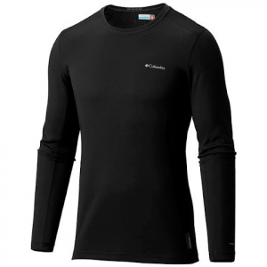 Columbia Men ' S Midweight Mesh Long Sleeve Top - Black