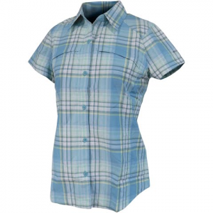 Columbia Women ' S Silver Ridge Multi Plaid Short Sleeve Shirt - Bluetime Dobby Plaid