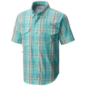 Columbia Boys Youth Super Bonehead Short Sleeve Shirt - Gulfstream Plaid