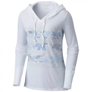 Columbia Women ' S Sandy Stripes Hoodie - White