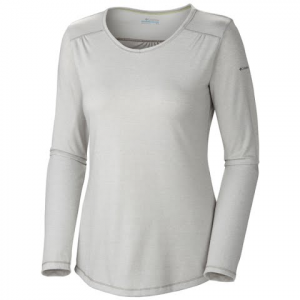 Columbia Women ' S Thistle Ridge Long Sleeve Tee - Charcoal Heather