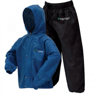 Frogg Toggs Youth Polly Wogg Rain Suit - Royal Blue / Black