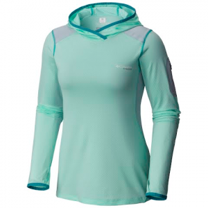 Columbia Women ' S Titanium Series Titan Ice Hoodie - Sea Ice Heather