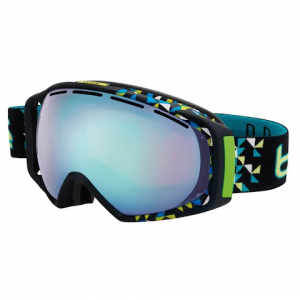 Bolle Mens Gravity Snow Goggle - Black Diagonal / Modulator Vermillon Blue