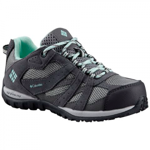 Columbia Youth Kid ' S Redmond Waterproof Sneaker - Monument / Sea Ice