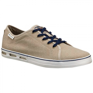 Columbia Men ' S Vulc N Vent Shore Lace Shoe - Silver Sage / Collegiate Navy