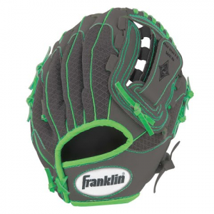 Franklin Youth 10 . 5 In . Infinite Web / Shok - Sorb Teeball Glove ( Graphite / Lime ) - Graphite