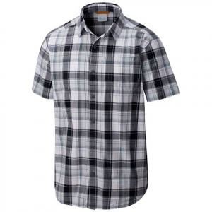 Columbia Mens Thompson Hill Ii Yarn Dye Shirt - Black Plaid