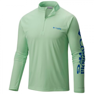 Columbia Men ' S Terminal Tackle 1 / 4 Zip - Key West / Vivid Blue