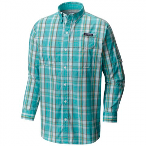 Columbia Men ' S Super Low Drag Long Sleeve Shirt - Moxie Multi Plaid
