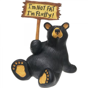 Big Sky Carvers I ' M Fluffy Bear Figurine