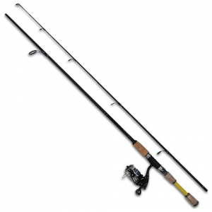 Eagle Claw Water Eagle 6ft 6in , 2 Piece Spinning Combo - Yellow