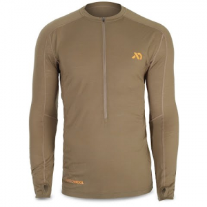 First Lite Men ' S Wilkin Half Zip Aerowool Top - Dry Earth
