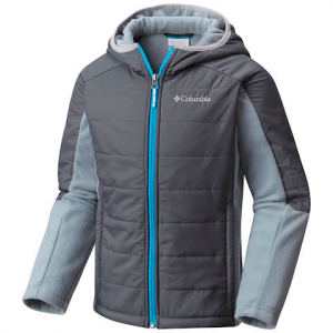 Columbia Boy ' S Youth Fast Trek Hybrid Jacket - Graphite / Tradewinds Grey