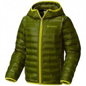 Columbia Youth Boy ' S Flash Forward Hooded Down Jacket - Pesto
