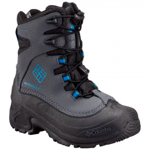 Columbia Youth Bugaboot Plus Iii Omni - Heat Winter Boot - Graphite / Hyper Blue