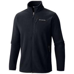 Columbia Men ' S Cascades Explorer Full Zip Fleece Jacket - Black