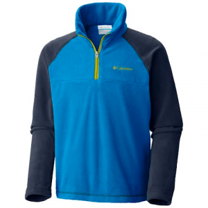 Columbia Boy ' S Youth Glacial Half Zip - Peninsula / Collegiate Navy