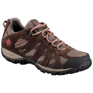Columbia Men ' S Redmond Waterproof Hiking Shoes - Mud / Garnet Red