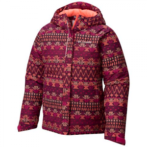Columbia Girl ' S Youth Horizon Ride Jacket - Deep Blush Nordic Stripe