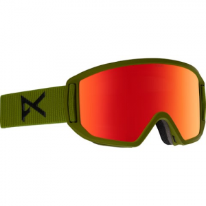 Anon Men ' S Relapse Goggle - Bear Green / Red Solex