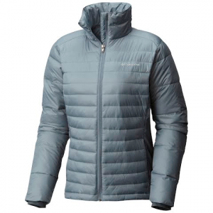 Columbia Women ' S Powder Pillow Hybrid Jacket - Grey Ash / Graphite