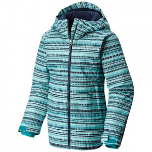 Columbia Youth Girl ' S Misty Mogul Jacket - Pacific Rim Stripe Print