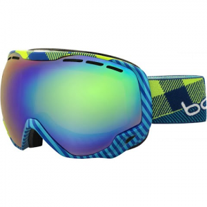 Bolle Men ' S Emperor Snow Goggle - Grey Blue Argyle / Modulator Citrus Gun