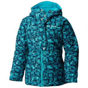 Columbia Youth Girl ' S Snowcation Nation Jacket - Pacific Rim / Checkers Print