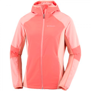 Columbia Women ' S Sweet As Softshell Hoodie ( 1x - 3x ) - 867lychee / Ltcoral