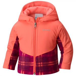 Columbia Toddler Steens Mountain Overlay Hoodie Jacket - Dark Raspberry / Lumberjack Plaid