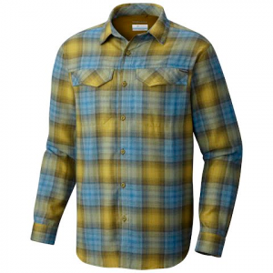 Columbia Men ' S Silver Ridge Flannel Long Sleeve Shirt - Mossy Green