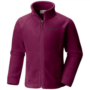 Columbia Girl ' S Youth Benton Springs Fleece Jacket - Dark Raspberry