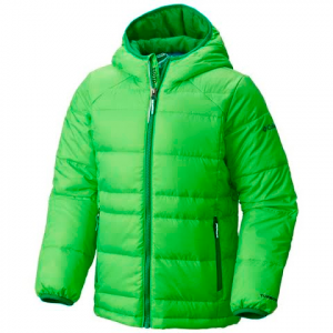 Columbia Youth Boy ' S Gold 550 Turbodown Hooded Down Jacket - 337pesto