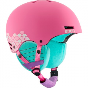 Anon Youth Rime Snow Helmet - Animal Trax Pink