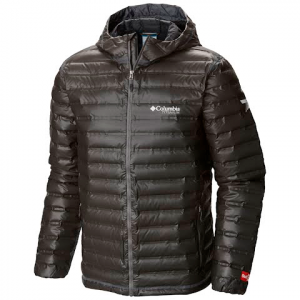 Columbia Men ' S Outdry Ex Gold Down Hooded Jacket ( Extended Size ) - Black