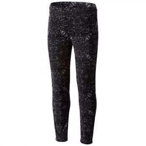Columbia Girl ' S Youth Glacial Printed Fleece Legging - Black Snowflake