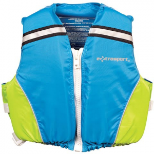 Extrasport Youth Volks Junior Type Ii Pfd - Sail Blue / Sour Apple