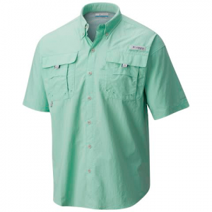 Columbia Men ' S Bahama Ii Short Sleeve - Kelp