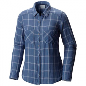 Columbia Women ' S Trail On Long Sleeve Plaid Shirt - Bluebell Plaid