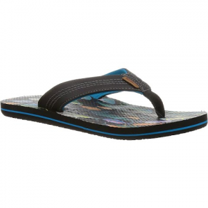Freewaters Men ' S Zac Print Sandals - Saltwater Fish